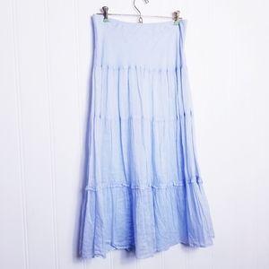 Banana Republic Flowy Boho Tiered Maxi Skirt